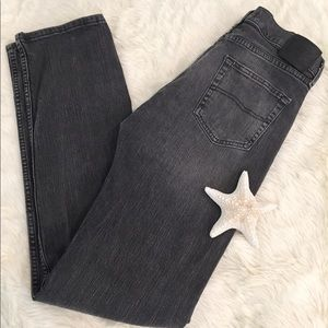 Lee Men's Gray/Black Straight Fit Jeans